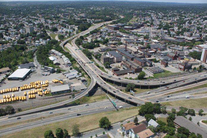 THE ROUTE 6/ROUTE 10 interchange in Providence could cost up to $500 million to fix, twice as much as the cost of the new Sakonnet bridge, making it the most expensive unfunded highway construction project on the state's agenda. / COURTESY R.I. DEPARTMENT OF TRANSPORTATION