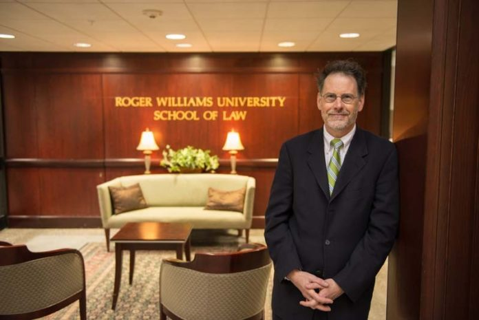 SETTING THE BAR HIGH: Michael J. Yelnosky was one of the founding faculty members of Roger Williams University School of Law 20 years ago. Now professor Yelnosky is preparing to take over as the law school's dean July 1. / COURTESY JULIE BRIGIDI/OGGI PHOTOGRAPHY