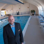 GREEN GOING: Greg Nawrocki is senior sales manager at the Newport Harbor Hotel and Marina, which has a saltwater pool that doesn't use chlorine or other chemicals in the water. / PBN PHOTO/MICHAEL SALERNO