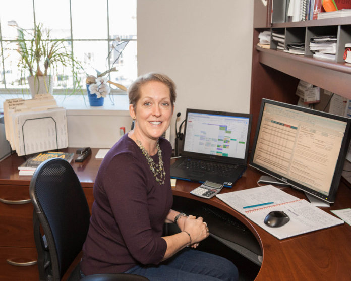 A FINE FOUNDATION: By building the correct systems into the early days of ChartWise Medical Systems, CFO Mary Cooper has made the company's recent growth easier to accomplish, according to company insiders. / PBN PHOTO/TRACY JENKINS