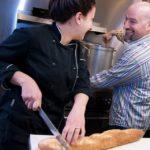 WHETTING APPETITES: David Dadekian, right, owner of Eat Drink RI LLC, with sous chef Ashley Vanasse. / PBN PHOTO/MICHAEL SALERNO