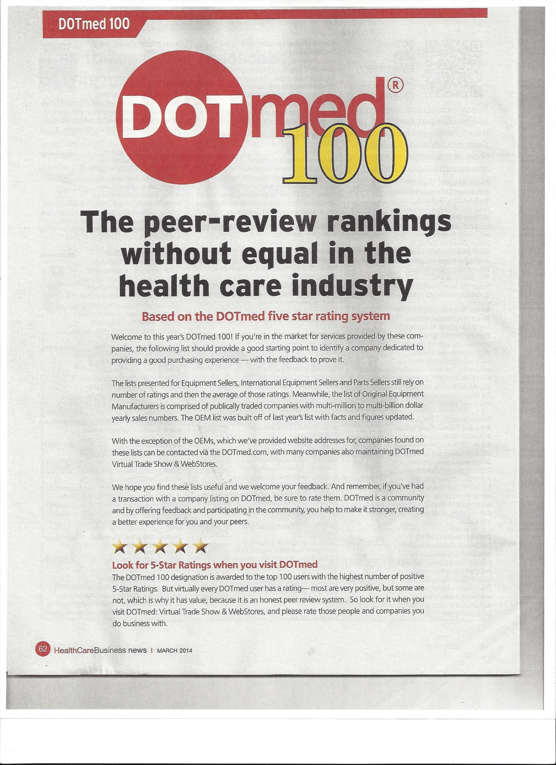 Fall River Company named as Number One Medical Dealer in US
