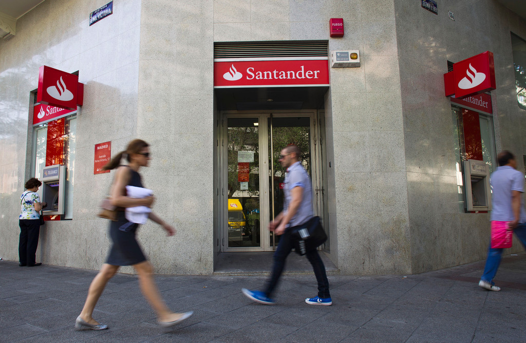 NET INCOME from Brazil, Santander's biggest market, jumped 77 percent from a year earlier, the bank said Wednesday. / BLOOMBERG FILE PHOTO/ANGEL NAVARRETE