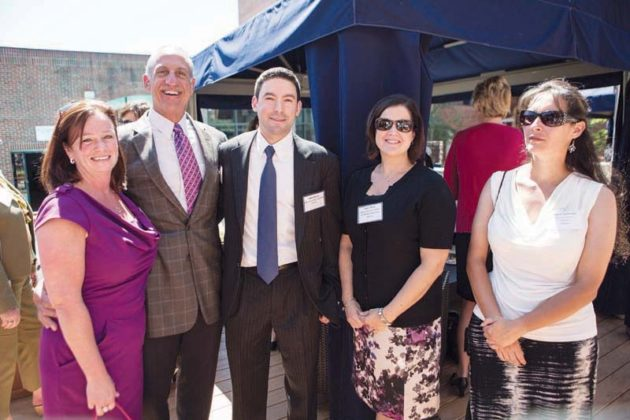(l-r) Jean Tapley, Amica, Mark Corriea, Preventure, John Davia, Blue Cross Blue Shield RI with Amy Pryor and Angela Sadowski, Amica