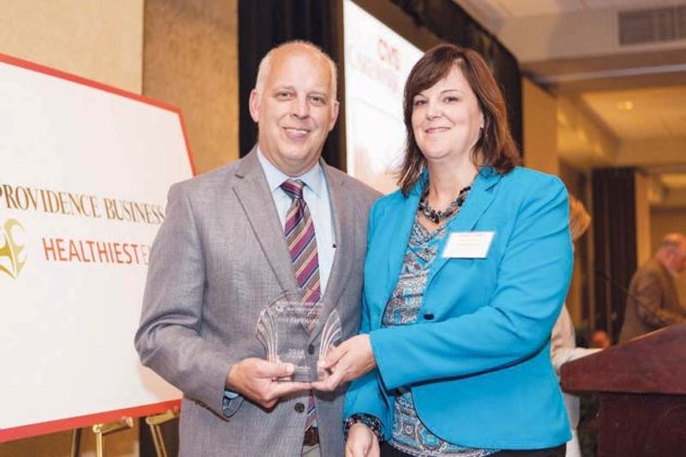 Candace Jodice accepts the award for CVS Caremark  / Rupert Whiteley
