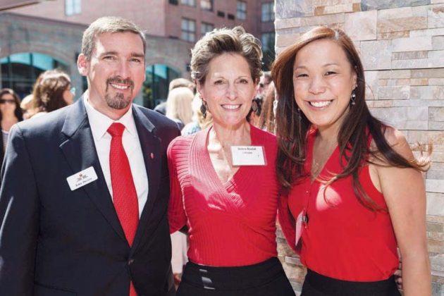 Jamie Devlin, American Heart Association; Debra Koziol, Lifespan; and Amanda Komerek, American Heart Association  / Rupert Whiteley