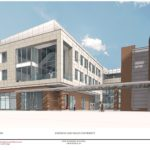 A NEW $40 MILLION, 60,000-SQUARE-FOOT academic building is being planned by Johnson & Wales University at the corner of Pine and Chestnut streets in Providence's Jewelry District. Construction is expected to begin in April. / COURTESY JOHNSON & WALES UNIVERSITY