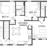 A SAFER PLACE: A floor plan for an apartment in Smith Hill Community Development Corporation and Sojourner House's joint project aimed at people fleeing domestic violence. / COURTESY SMITH HILL COMMUNITY DEVELOPMENT CORP.