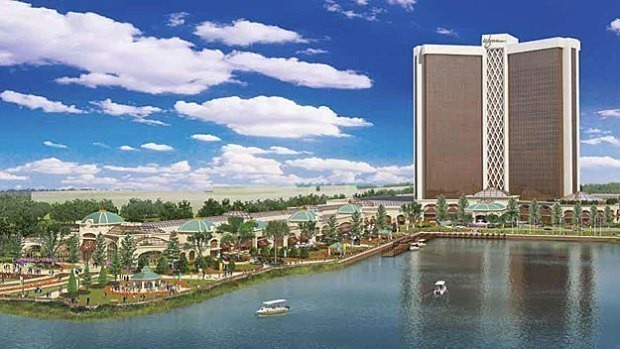 MASSACHUSETTS VOTERS rejected an effort to halt expanded gaming in Tuesday's election, clearing the way for a casino by Wynn Resorts, shown above. Wynn won the license to build a casino in Everett, Mass., on a 3-1 vote by the Massachusetts Gaming Commission, beating out the Mohegan Tribal Gaming Authority. / COURTESY WBZ-TV CBS 4