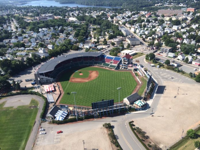 PAWTUCKET MAYOR Donald R. Grebien said he was told by the new owners of the Pawtucket Red Sox that they plan to move the team out of the city. The new owners are considering moving the Triple-A baseball team to Providence. / COURTESY PAWTUCKET RED SOX