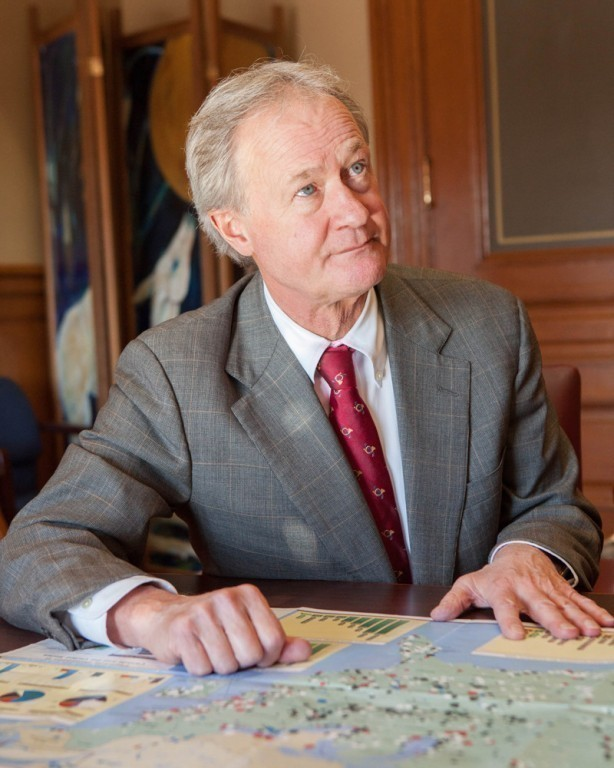 LINCOLN D. CHAFEE, the former governor of Rhode Island, recently announced he's mulling a run for president. / PBN FILE PHOTO/TRACY JENKINS