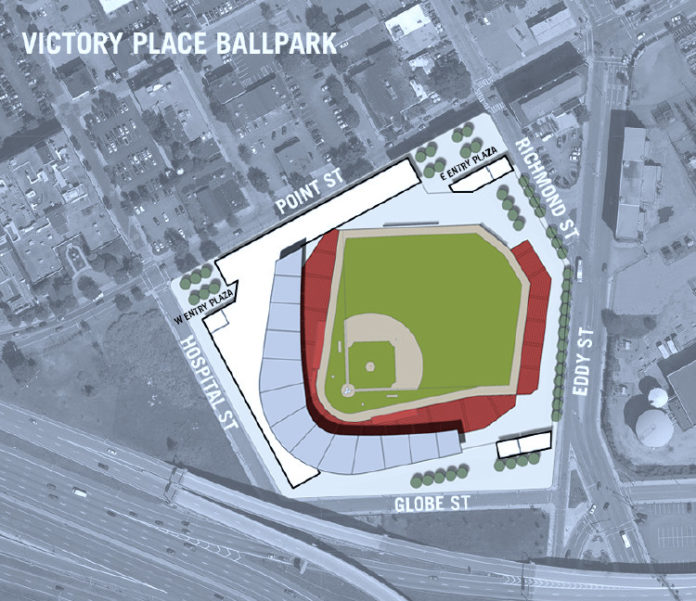 JAG INVESTMENT REALTY, the owners of Victory Place, an eight-acre site near Davol Square, on Tuesday said their site could be an option for the owners of the Pawtucket Red Sox, if the former Interstate 195 land does not work out. / COURTESY JAG INVESTMENT REALTY