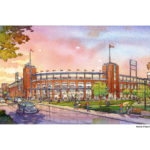 BOSTON RED SOX President Larry Lucchino - who is one of the new ownership group for the Pawtucket Red Sox - is a proponent of urban baseball stadiums. The proposal for the Providence stadium puts the baseball team in the heart of Rhode Island's capital city. / COURTESY PBC ASSOCIATES