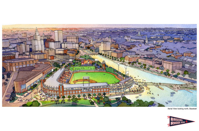 THE NEW OWNERSHIP GROUP of the Pawtucket Red Sox is looking to put the team in a new stadium in downtown Providence along the water. / COURTESY PBC ASSOCIATES