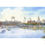 PAWTUCKET RED SOX President James J. Skeffington has said he is excited by the prospect of home runs being hit into the Providence River. / COURTESY PBC ASSOCIATES