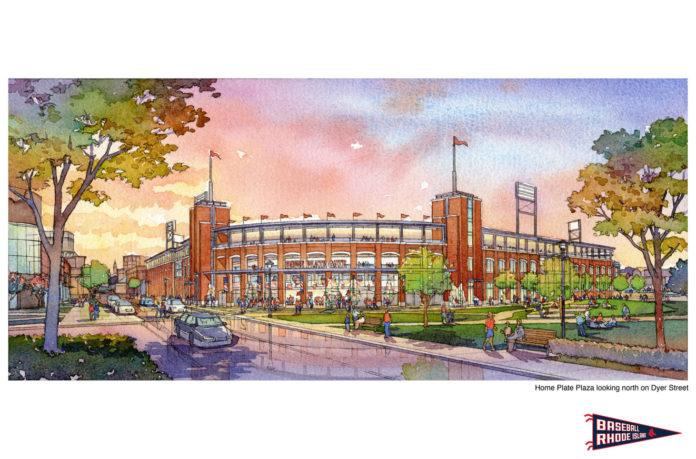 BOSTON RED SOX President Larry Lucchino - who is part of the ownership group for the Pawtucket Red Sox - will spearhead negotiations to move the team to downtown Providence after the death this week of James J. Skeffington. Skeffington was president of the PawSox. / COURTESY PBC ASSOCIATES