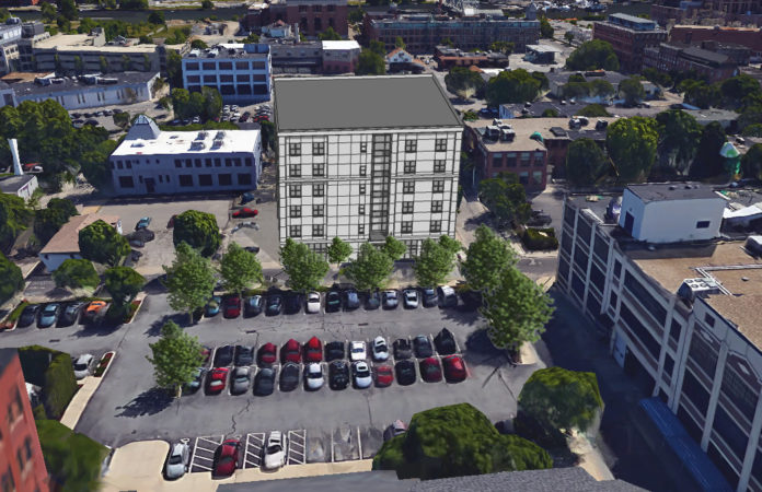 PROVIDENCE'S DOWNTOWN DESIGN REVIEW COMMITTEE is slated to give final approval to this six-story mixed-use building in the Jewelry District at a Monday meeting. / COURTESY FEDERAL HILL GROUP LLC