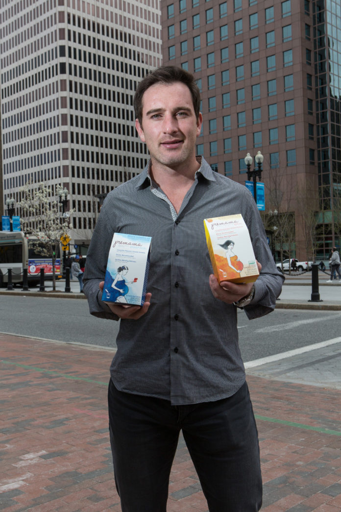 HEALTHY IDEA: Dan Aziz, 26, has been running his startup, Premama, for four years. The company sells nutritional drinks to pregnant women. / PBN PHOTO/RUPERT WHITELEY