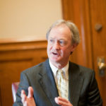 FORMER GOVERNOR LINCOLN D. CHAFEE is expected to launch his presidential campaign on Wednesday. Meanwhile, his campaign has lost track of the log-in credentials to the Facebook page that staffers started and managed for Chafee as governor. / PBN FILE PHOTO/RUPERT WHITELEY