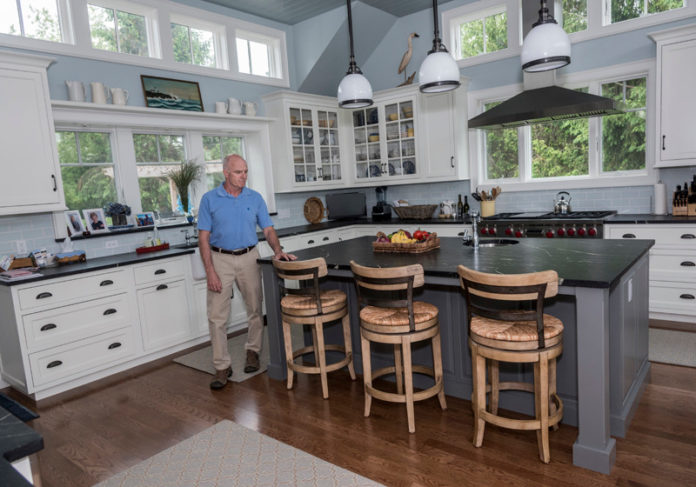 THE RIGHT INGREDIENTS: David Baud, president of Baud Builders, shows off a Narragansett property recently renovated. Baud describes his work as a