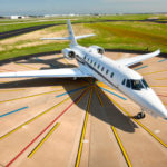 TEXTRON INC. reported lower revenue and profit in its first-quarter earnings release on Wednesday. Pictured is a Citation Sovereign+ jet. The company delivered only one more jet this quarter than in the year-ago quarter, 35 compared with 34. / COURTESY CESSNA AIRCRAFT CO.