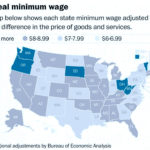 AN ANALYSIS OF THE MINIMUM wage by The Washington Post showed that when adjusted for the difference in the price of goods and services, Rhode Island's real minimum wage is actually $9.17 instead of $9. / COURTESY THE WASHINGTON POST