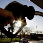 GAS PRICES in Rhode Island and Massachusetts rose 1 cent and 5 cents, respectively, from last week, according to AAA Northeast. / BLOOMBERG FILE PHOTO/CHRIS RADCLIFFE