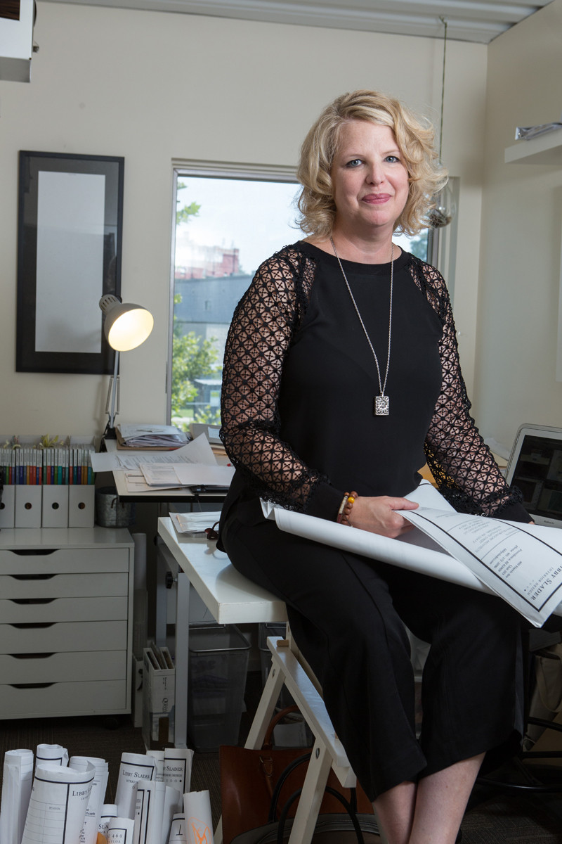 For nearly three decades, interior designer Libby Slader has focused on improving the appearance and functionality of hospitality, retail and corporate work spaces. / PBN PHOTO/RUPERT WHITELEY