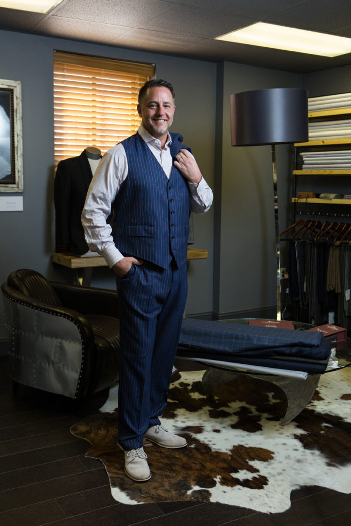 Marc Streisand started Marc Allen Fine Clothiers 10 years ago because he thought Providence's creative culture deserved more than pinstripe suits, oxford shirts and khaki pants. / PBN PHOTO/RUPERT WHITELEY