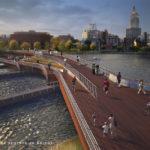Providence River Pedestrian Bridge rendering