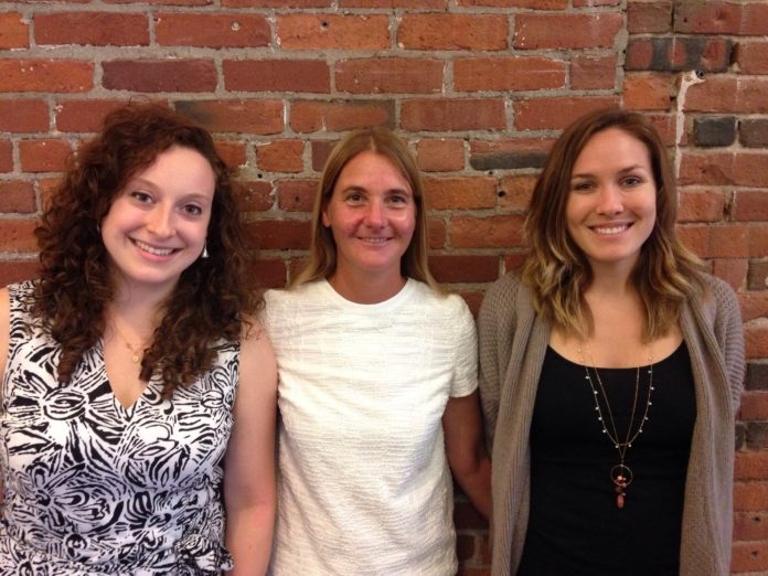 From left, Isabella Cassell, Kelly Ramirez and Cayla Mackey of the Social Enterprise Greenhouse nonprofit network are working to broaden access to healthy, local food in Rhode Island.