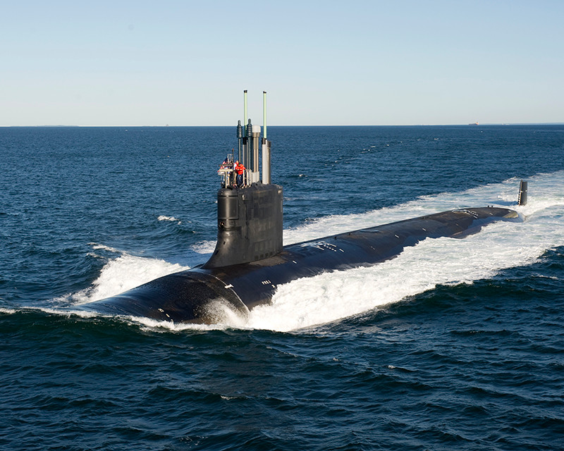 OFFICIALS Friday participated in a ribbon cutting ceremony to celebrate a new, 113,000-square-foot facility to support increased submarine construction work at General Dynamics-Electric Boat's Quonset Point facility. / COURTESY GENERAL DYNAMICS ELECTRIC BOAT