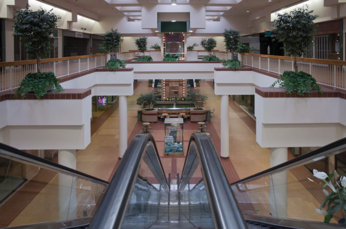 RHODE ISLAND MALL's interior is being demolished to make room for a renovation that will bring in