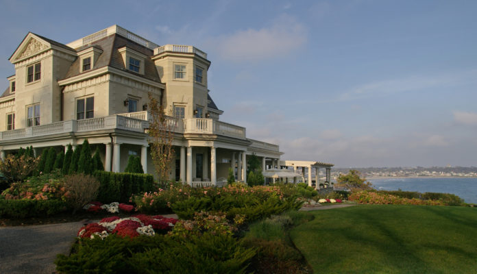 RHODE ISLAND'S 1 PERCENT hotel tax collections showed double-digit year-over-year growth through November. Pictured is the Chanler at Cliff Walk hotel in Newport. / COURTESY THE CHANLER AT CLIFF WALK