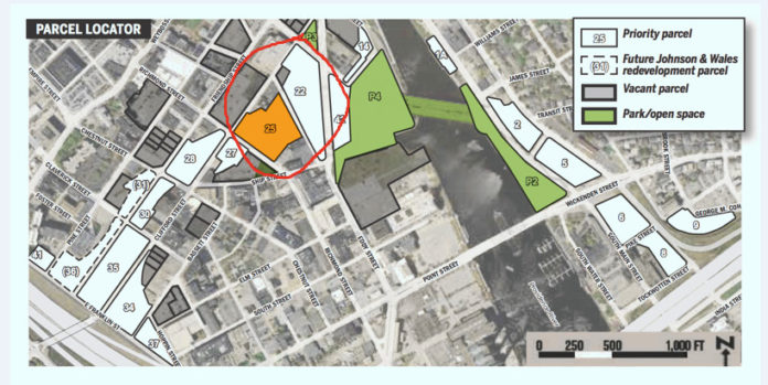THE I-195 REDEVELOPMENT COMMISSION authorized its executive director and chairman to pursue a purchase and sale agreement with a joint venture of two companies to build a multi-phase life sciences and mixed-used development on parcels 22 and 25 of the former Interstate 195 land in Providence. / COURTESY THE I-195 REDEVELOPMENT DISTRICT COMMISSION