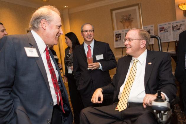 Mark Murphy, PBN; David Debault, The Washington Trust Company and Congressman Jim Langevin / Rupert Whiteley