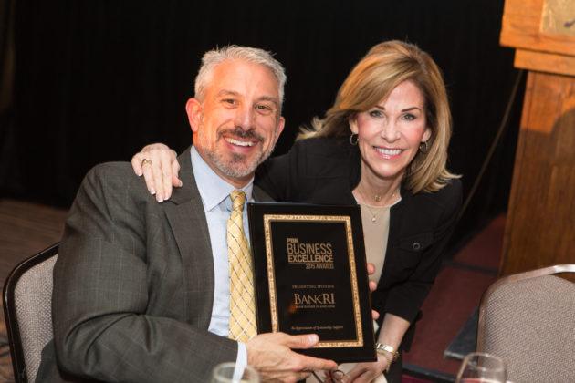 Steven Parente, BankRI, and Nancy Adeszko, PBN / Rupert Whiteley