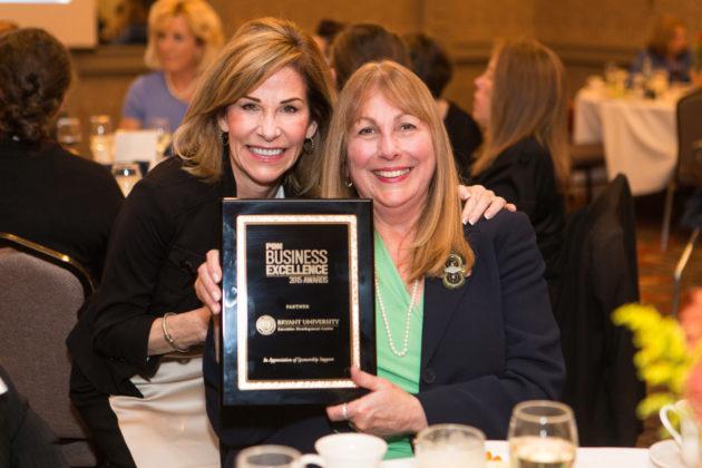Annette Cerilli, Bryant University with PBN's Nancy Adeszko / Rupert Whiteley