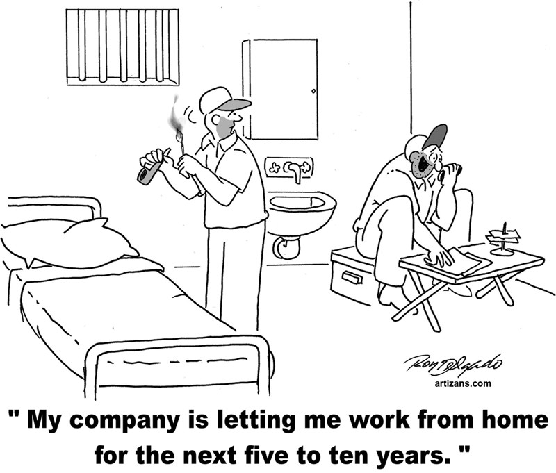 Editorial Cartoon Working From Home Providence Business News
