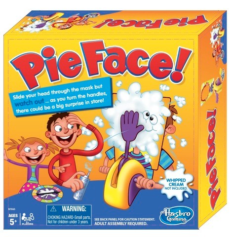 HASBRO'S PIE FACE game helped boost sales for the company in the first quarter. / COURTESY HASBRO INC.