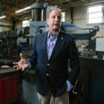 GO LEAN: Karl Wadensten, president of VIBCO Vibrators, is a proponent of lean processing, which eliminates waste and unneeded steps. He said the principles of lean processing can be applied to Rhode Island's agencies. / PBN PHOTO/RUPERT WHITELEY