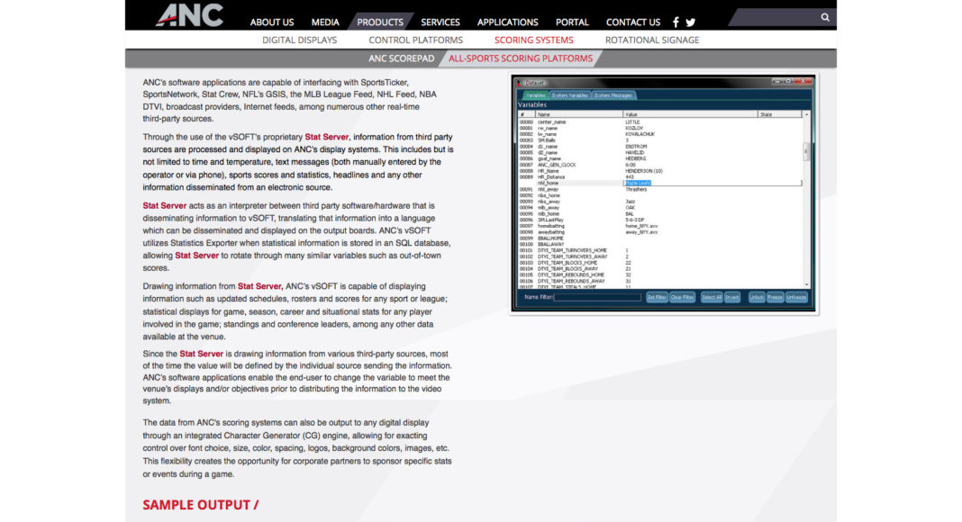 This is the page created from the previous example of the back end.
