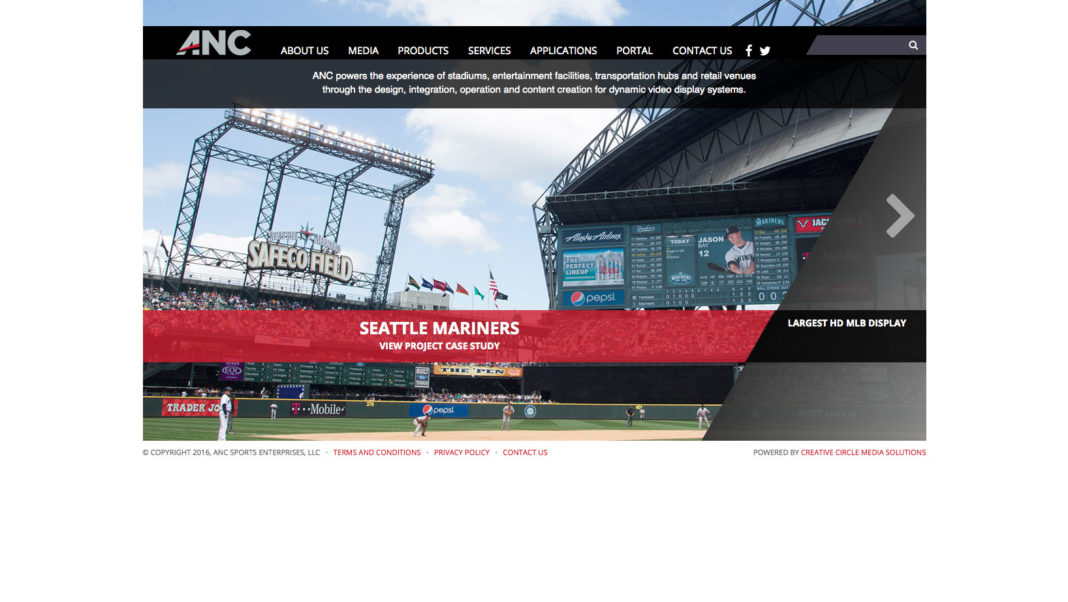 The home page of the new ANC site features sliders with various formats and methods for linking up stories.
