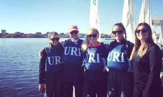 MEMBERS OF THE URI Sailing team are shown.  The team has received $130,000 in gifts toward its $450,000 fundraising goal to replace its aging fleet.  Gifts will also help support community outreach and coaching. / COURTESY UNIVERSITY OF RHODE ISLAND FOUNDATION