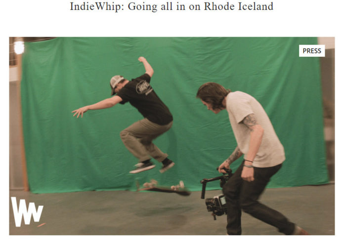 "INDIEWHIP is having a little fun with its mistake earlier this week when it included footage of a skateboarder in Iceland in a Rhode Island tourism video.  Now the Providence company says it is ""going all in on Rhode Iceland."" / COURTESY INDIEWHIP"