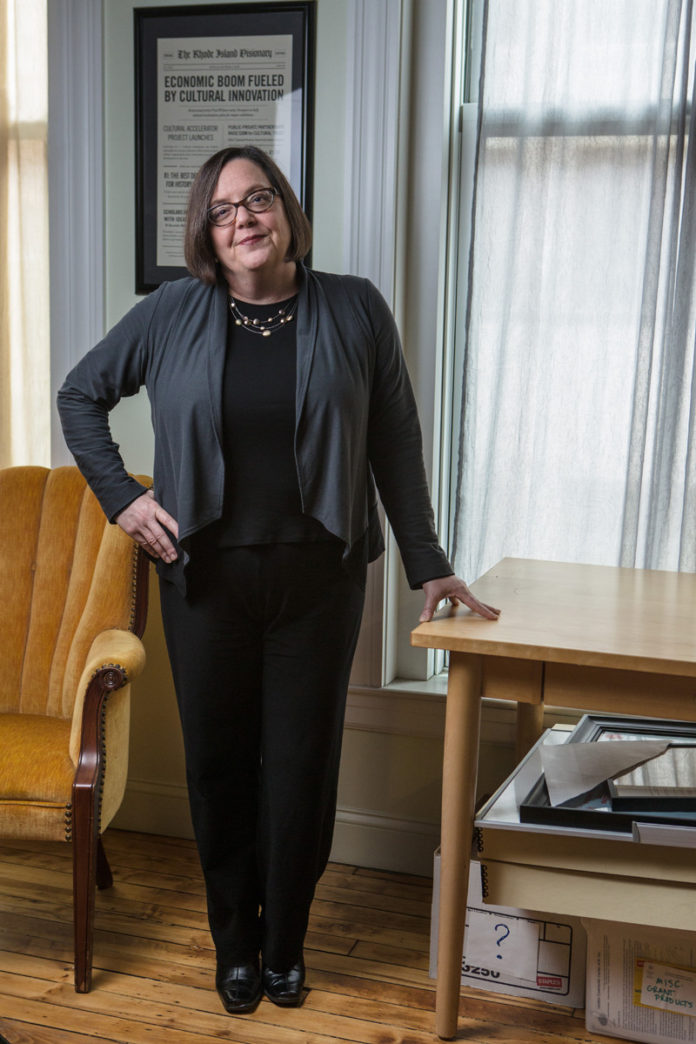 Elizabeth Francis has been executive director of the Rhode Island Council for the Humanities for three and a half years, where she is building on the council's grant program through strategic partnerships. / PBN PHOTO/RUPEERT WHITELEY