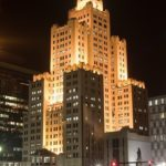 A PRESS CONFERENCE will be held Thursday at the Superman building in Providence to discuss its future. / PBN FILE PHOTO