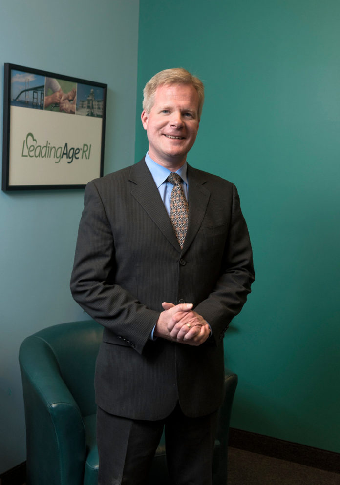 James Nyberg is the director of LeadingAge Rhode Island, a member organization that represents nonprofit nursing homes, assisted-living residences, senior housing and adult day centers in the Ocean State. / PBN PHOTO/MICHAEL SALERNO