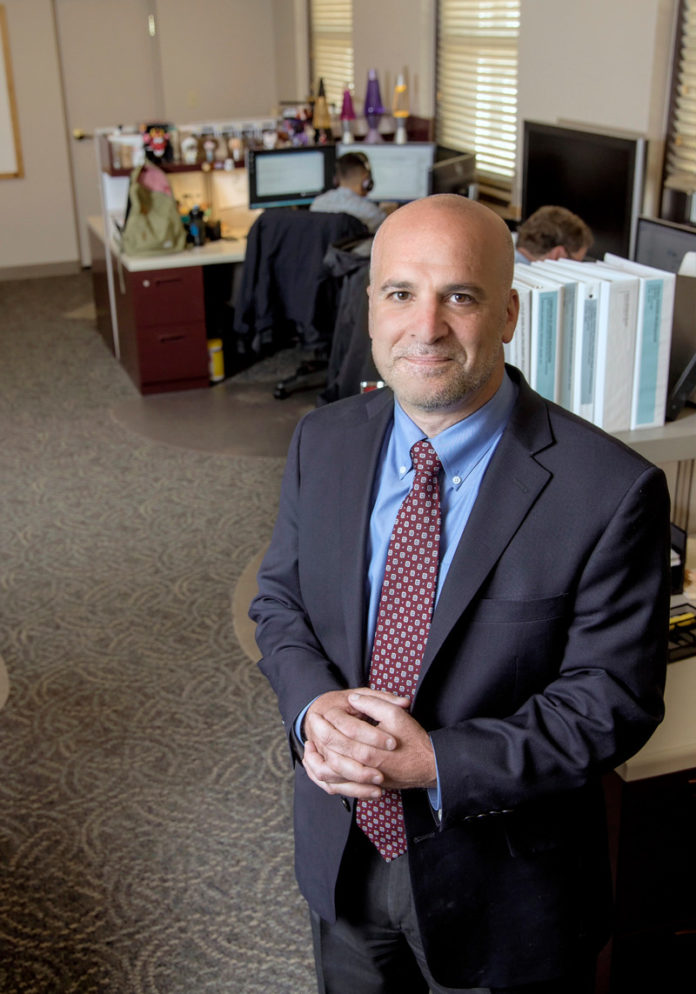 David Giardino started Turino Group 20 years ago because he believed transforming data into valuable, timely information was key to enabling successful project delivery. That realization is never more important than today. / PBN PHOTO/MICHAEL SALERNO