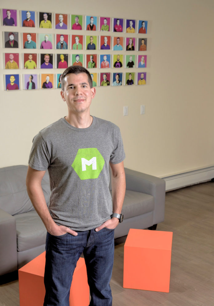 Since founding MojoTech in 2008, after working as an engineer at two venture-backed startups, Nick Kishfy has built a software firm that continues on an upward path, adding clients and staff. / PBN PHOTO/MICHAEL SALERNO